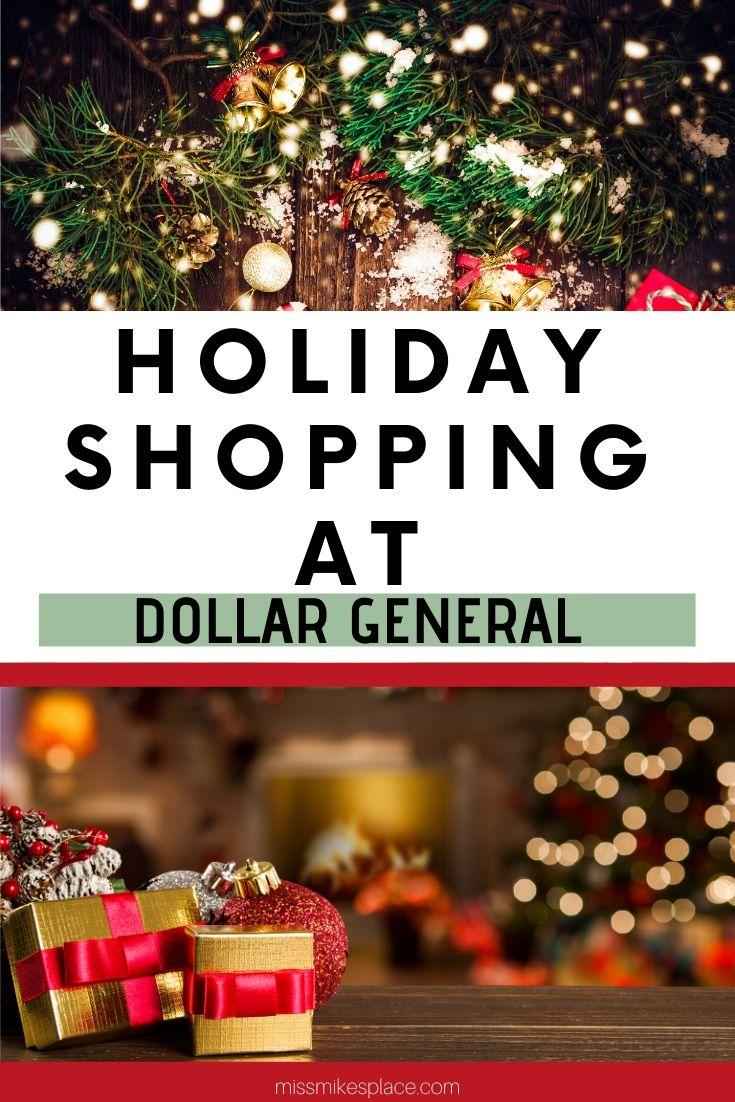 Holiday Shopping at Dollar General